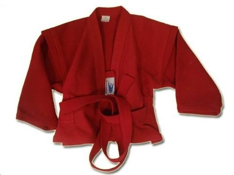 Куртка для самбо. Цвет красный. Размер 54.