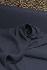 Лён из крученой нити цвет ТЕМНО-СИНИЙ