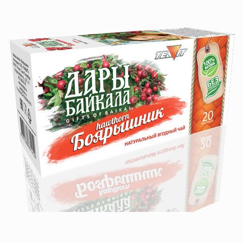 Чайный напиток Дары Байкала Боярышник, 20 пак. (Тиавит)