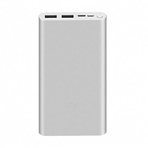 Power Bank Xiaomi Mi Power 3 (VXN4259CN), 2xUSB, 10000mAh, QC2.0 silver (ORIGINAL)