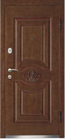 Дверь входная Monte Bello 282 стальная, орех, 2 замка