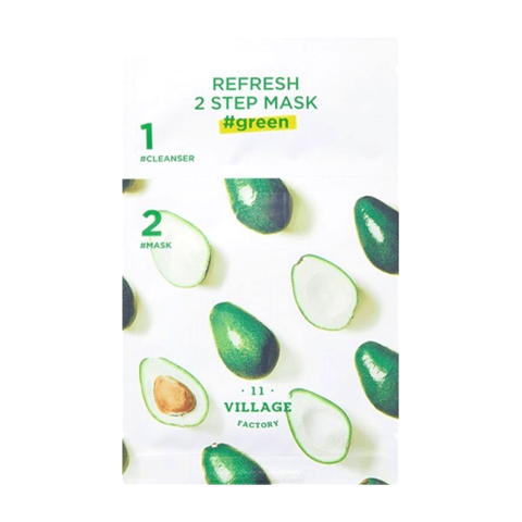VILLAGE 11 FACTORY Refresh 2-step Mask Green  программа для лица
