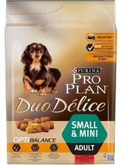 Сухой корм, Purina Pro Plan DuoDelice, для взрослых собак мелких пород, с говядиной и рисом