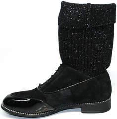 Замшевые полусапоги женские Kluchini 5161 k255 Black