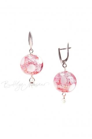 Серьги Белла светло-розовые pois