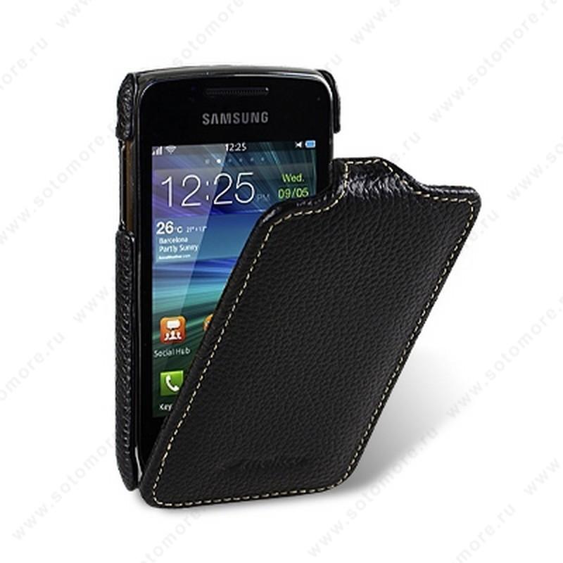Чехол-флип Melkco для Samsung Wave Y S5380/ Wave 538 Leather Case Jacka Type (Black LC)