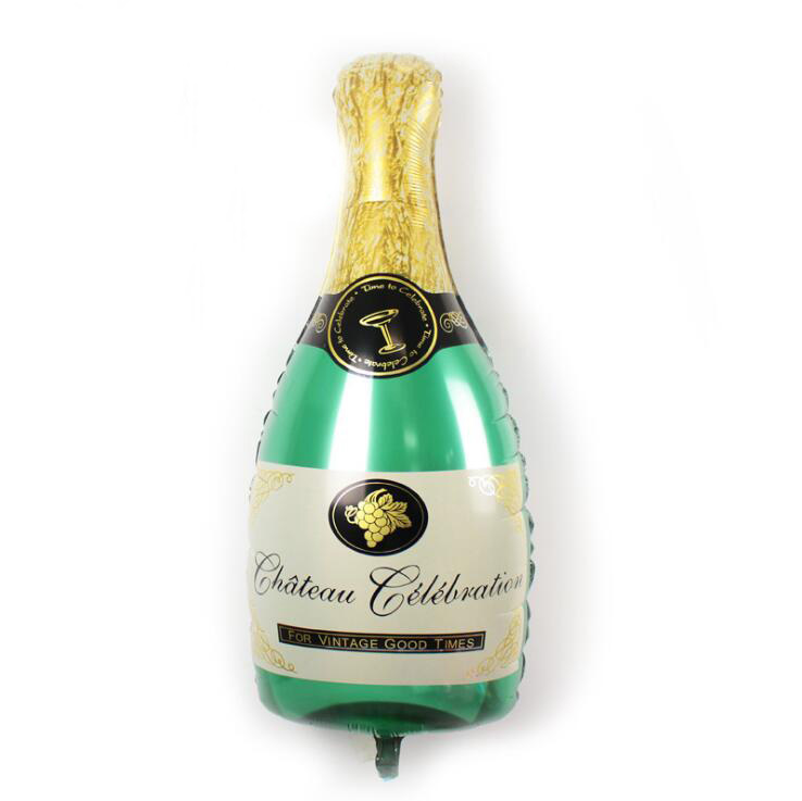 Фольгированные шары фигуры Шар фольга  Бутылка шампанского -.jpg