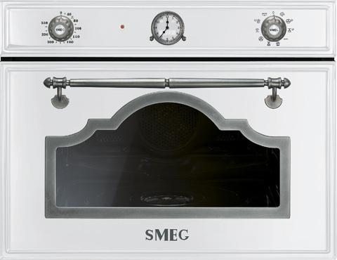 Компактный духовой шкаф Smeg SF4750VCBS комбинированный с пароваркой