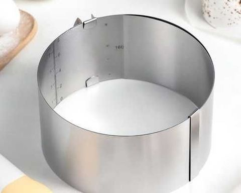 Кольцо раздвижное для выпечки D16-30 H8 см, оптом 20 шт.