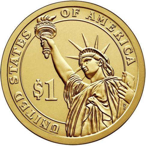 1 доллар 34-й президент США Дуайт Эйзенхауэр 2015 год