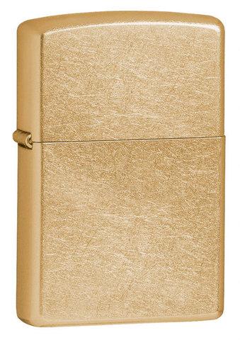 Зажигалка Zippo с покрытием Gold Dust, латунь/сталь, золотистая, матовая, 36x12x56 мм