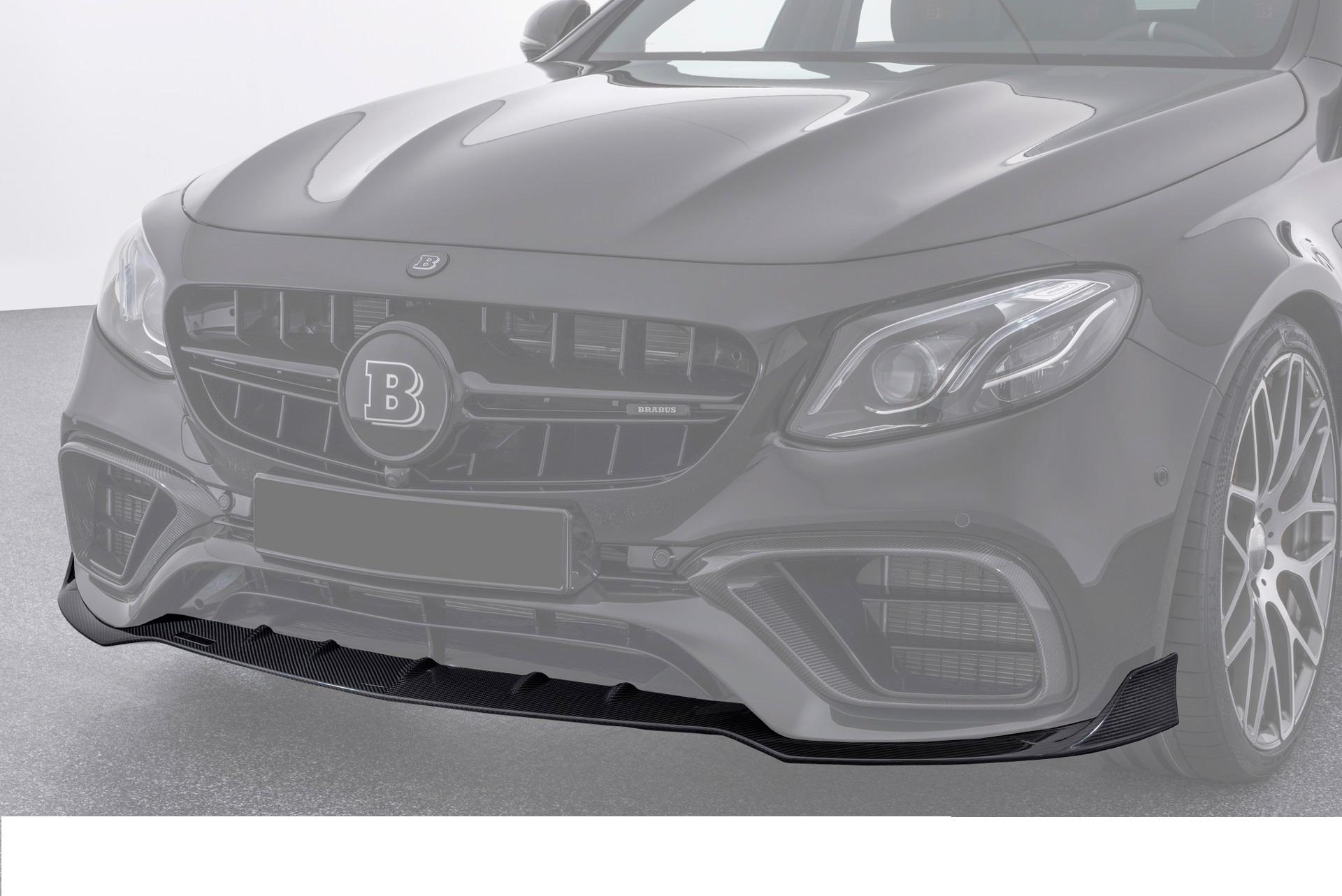 Карбоновый спойлер переднего бампера 63 AMG Brabus Style для Mercedes E-class W213