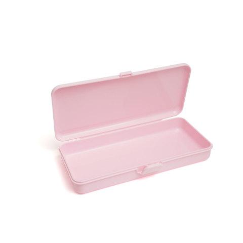 Пластиковый контейнер для хранения прямоугольный (розовый)