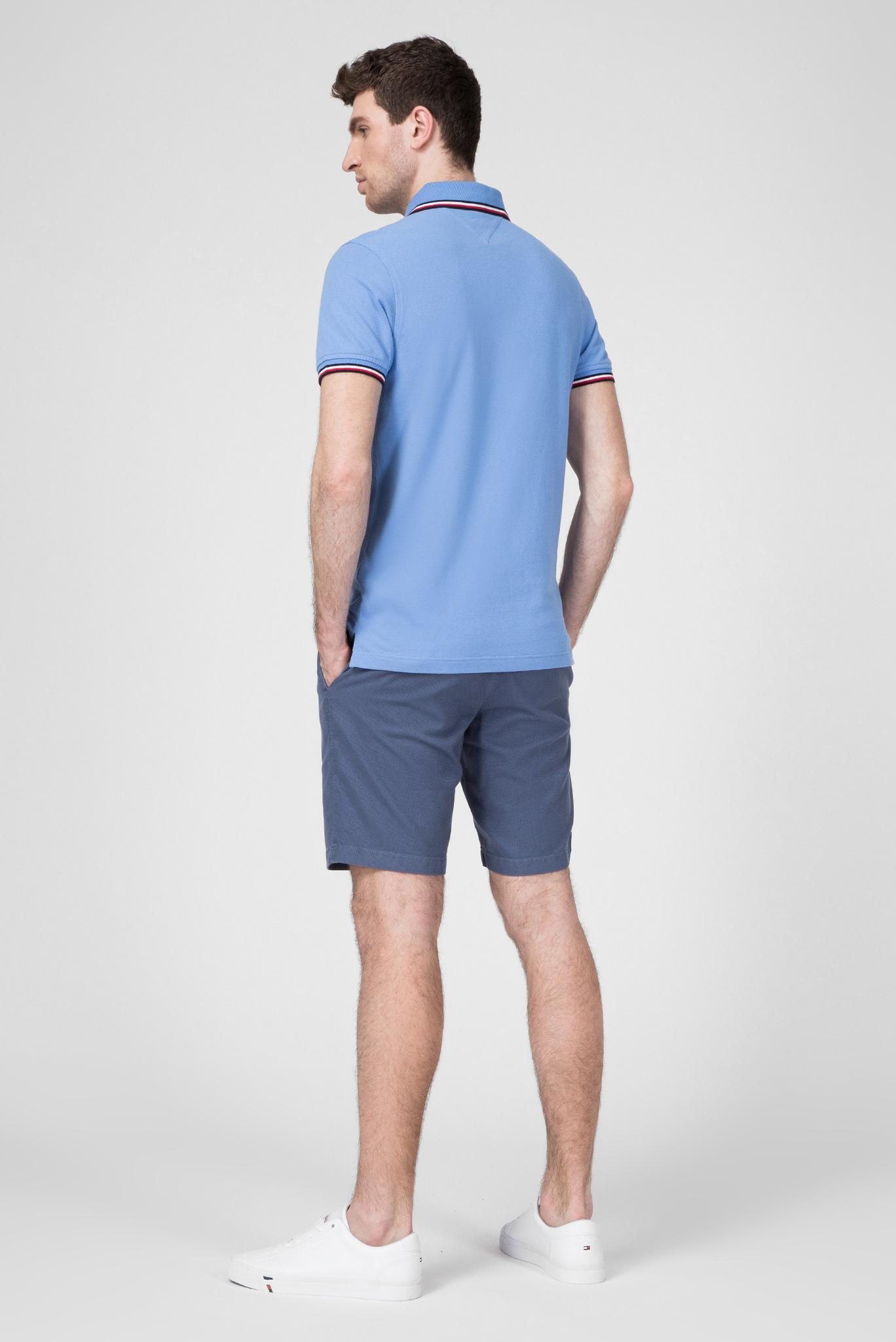 Мужское голубое поло TIPPED SLIM Tommy Hilfiger