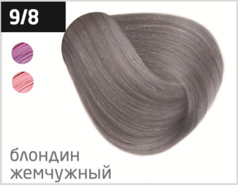 OLLIN silk touch 9/8 блондин жемчужный 60мл безаммиачный стойкий краситель для волос