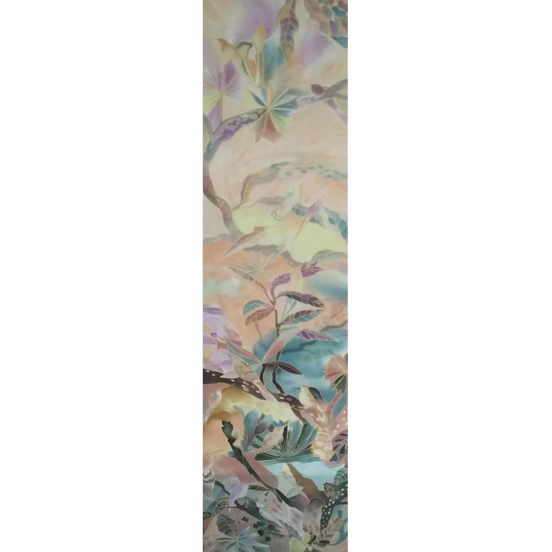 Шелковый шарф батик Трели