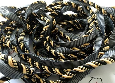 Кант декоративный F15 черно-золотой