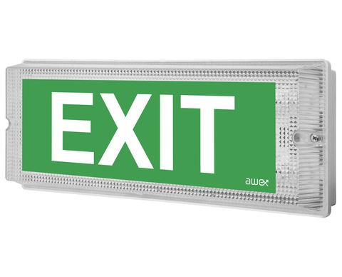 Световые эвакуационные указатели выход IP65 EMX Awex
