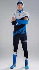Раздельный лыжный гоночный комбинезон NordSki Premium Deep Blue White 2020