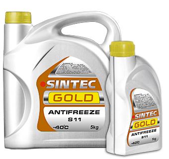 Антифриз желтый Sintec GOLD