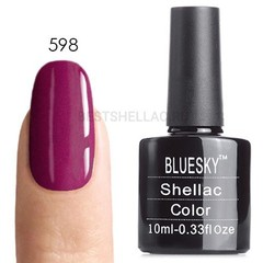 Гель-лак Bluesky № 40598/80598 Hot Pop Pink, 10 мл