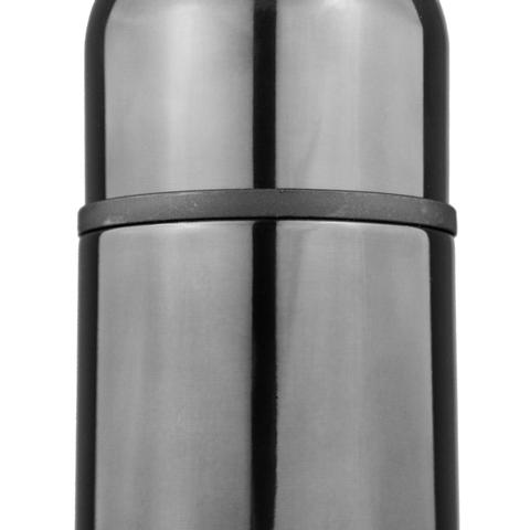 Термос Biostal (1 литр), вороненая сталь
