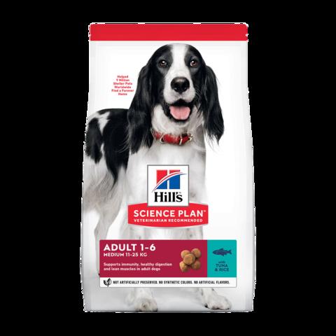 Hill's Science Plan Advanced Fitness Base Сухой корм для взрослых собак средних пород для поддержания иммунитета с тунцом и рисом