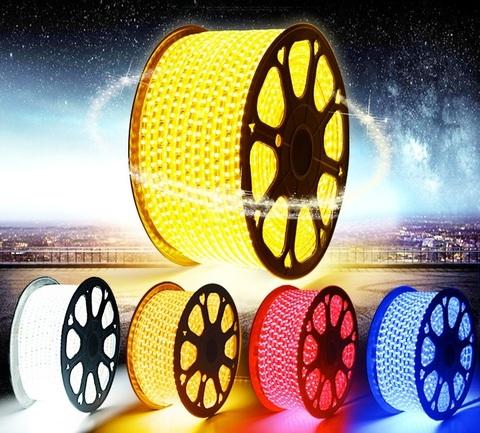 Лента_3528_дюралат_LED_светодиодная желтая