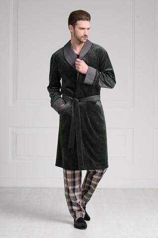 Велюровый мужской халат 20287  Laete