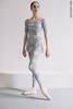 Set: 2 Sleeves leotard + leggings Zigsi + short chiffon wrap skirt, stained in print