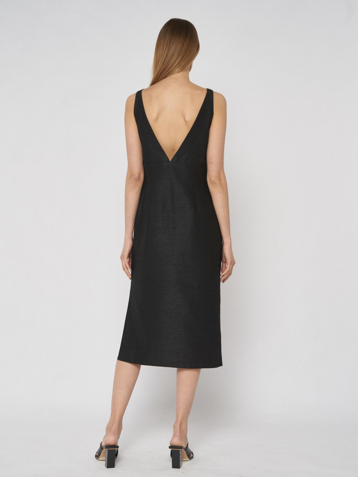 Платье Lana с глубоким вырезом, Черный