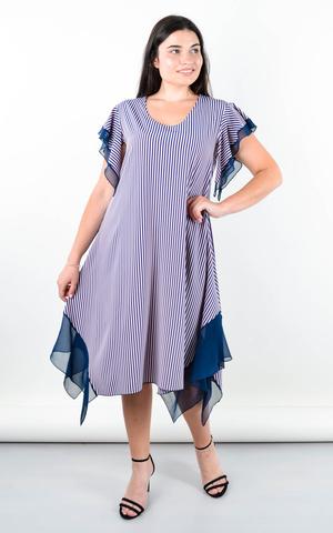 Нивея. Летнее платье для больших размеров. Пудра.