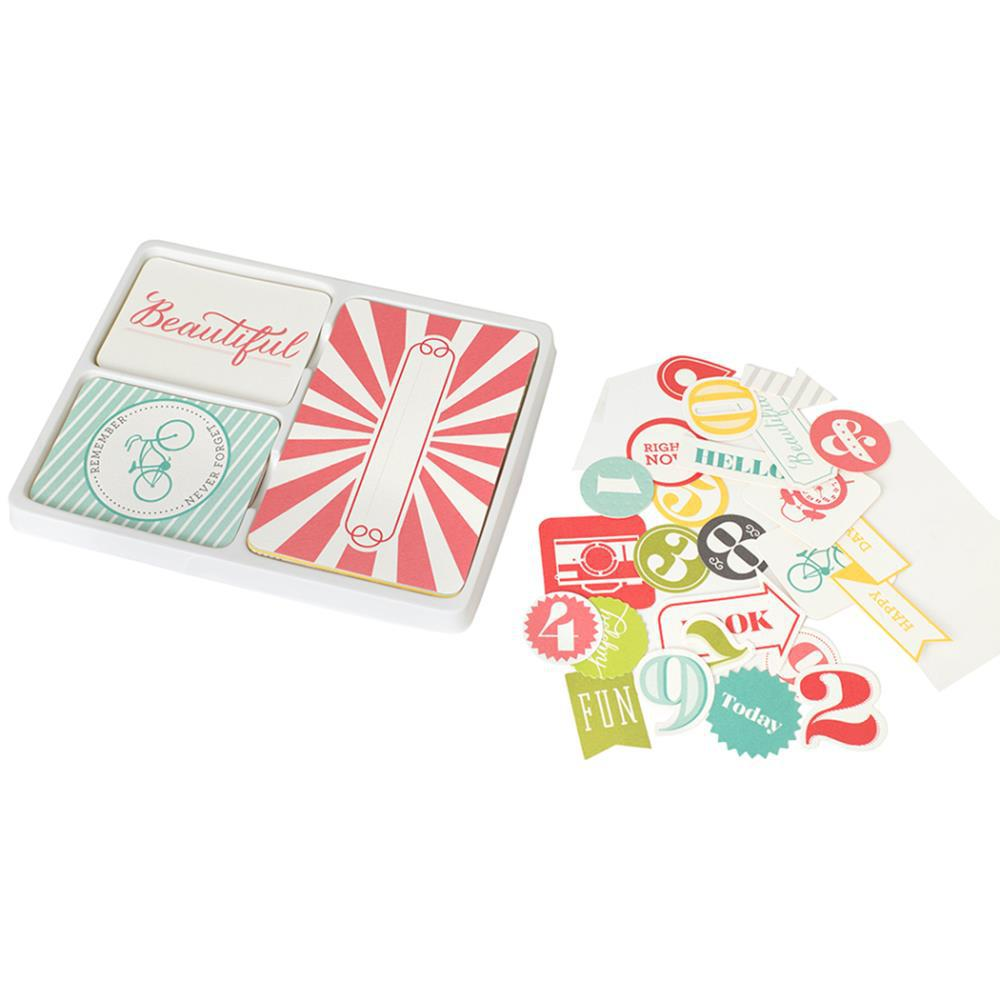 Kit набор карточек и украшений для Project Life 98шт