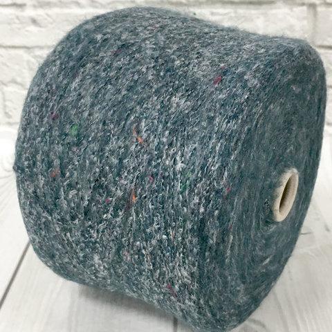Смесовка с мохером и шерстью FABIFIL GUPSY 800 серо-зеленый меланж