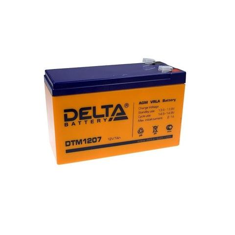 Аккумулятор для эхолота DELTA DTM 1207, 12В, 7.0Ah
