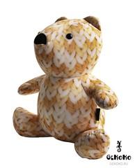 Подушка-игрушка антистресс «МиниМишка Вязаный» оранжевый 3