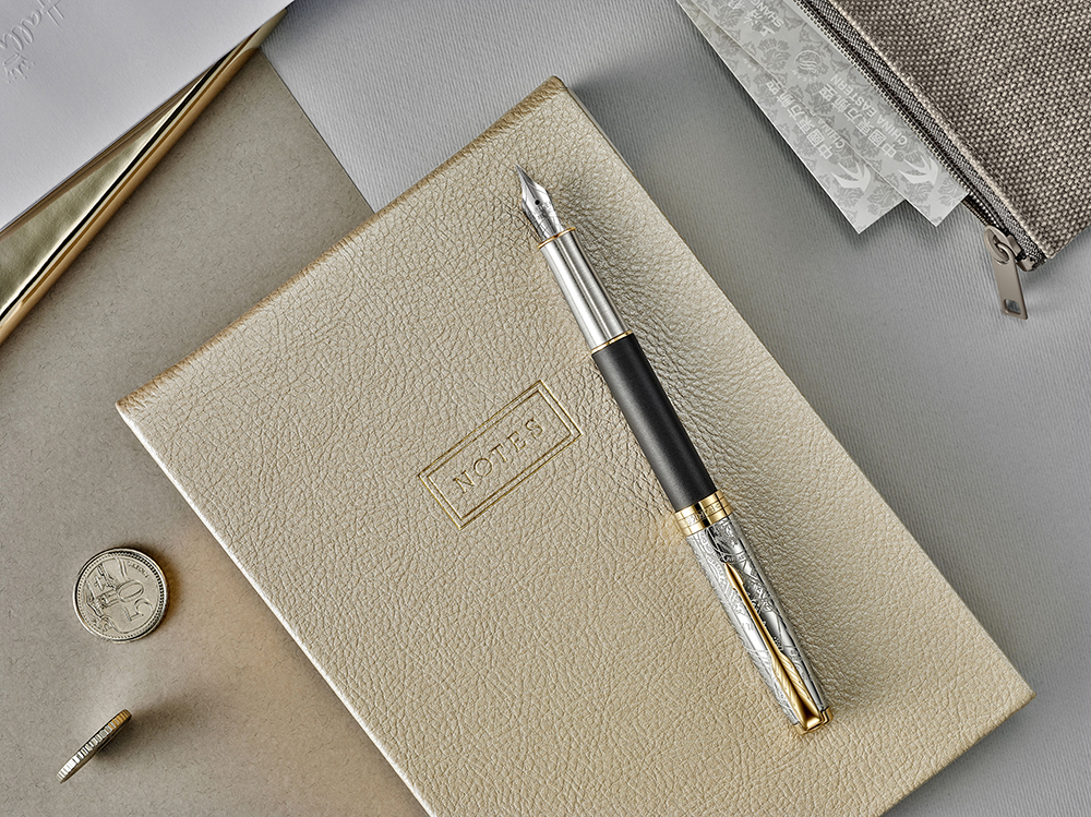 Parker Sonnet - Matte Black GT, перьевая ручка, F