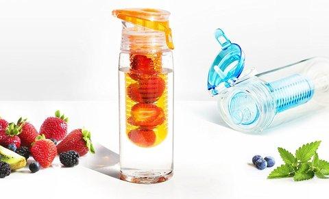 Бутылка Asobu Flavour it 2 go (0,6 литра), серая