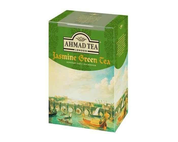 Чай зеленый листовой Ahmad Tea с жасмином, 200 г
