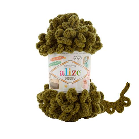 Купить Пряжа Alize Puffy Код цвета 719 Крокодил | Интернет-магазин пряжи «Пряха»