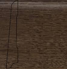 Плинтус шпон. La San Marco Profili Дуб Кофе 2500*80*16