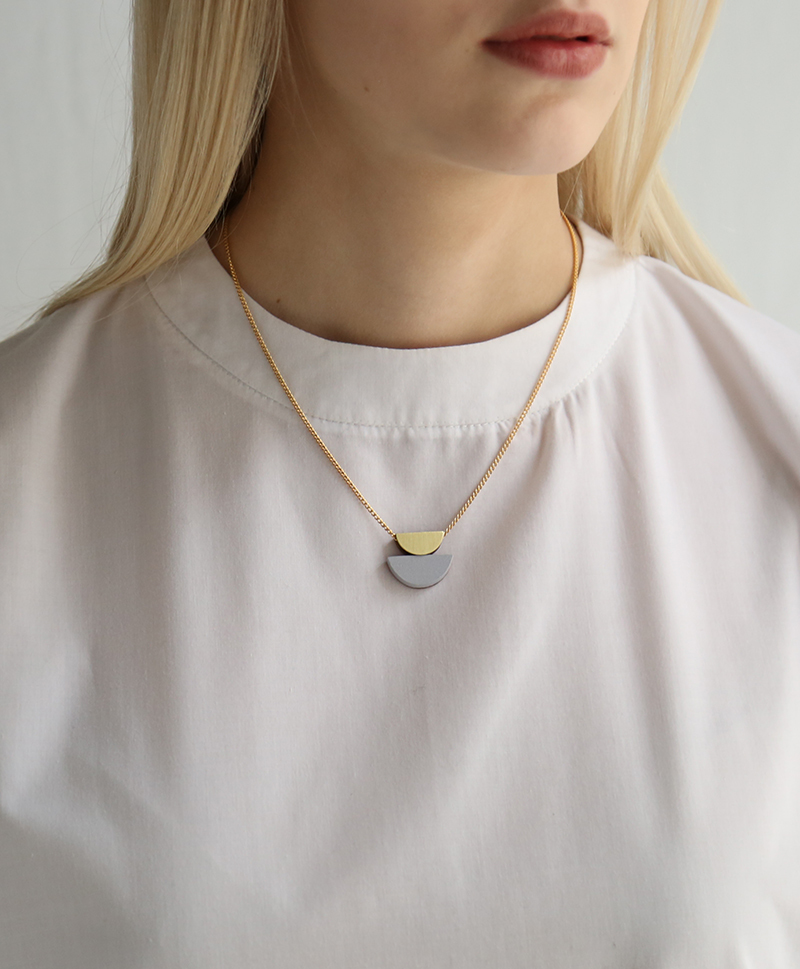 Подвеска Double Crescent Necklace Lavender