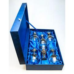 Набор бокалов 6шт. для  вина Первоцвет  в синей коробке