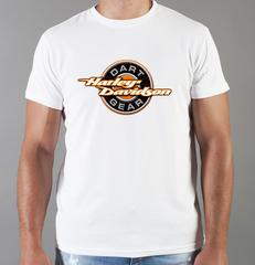 Футболка с принтом Harley-Davidson (Харли-Дэвидсон) белая 0046