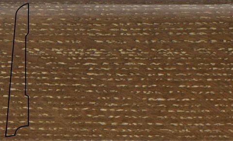 Плинтус шпон. La San Marco Profili Дуб Сэнд 2500*80*16