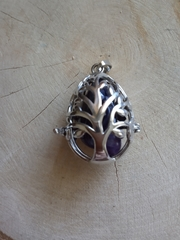 Медальон для камней Дерево (яйцо)