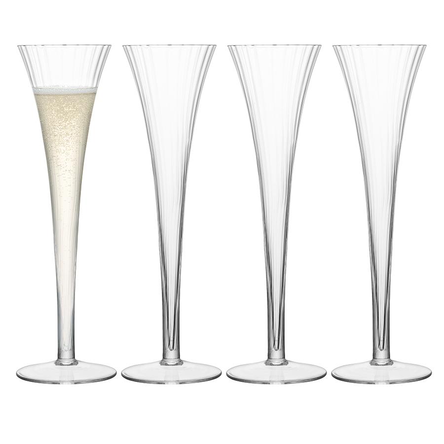 Набор из 4 бокалов для шампанского Aurelia, 200 мл набор бокалов для шампанского элизабет 200 мл
