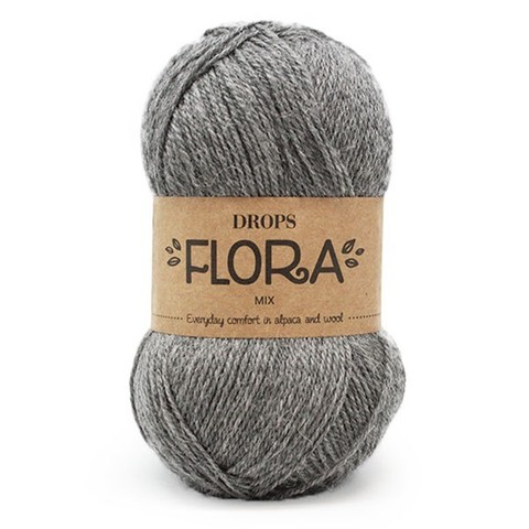 Пряжа Drops Flora 04 темно-серый