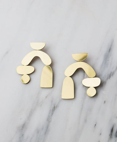 Серьги Cassia Earrings in Brass