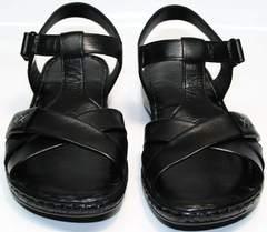 Босоножки женские кожаные Evromoda 15 Black.